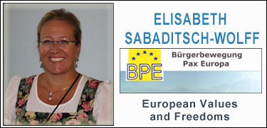 Elisabeth Sabaditsch-Wolff, Pax Europa, European values and Freedoms