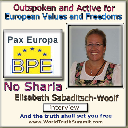 Elisabeth Sabaditsch-Wolff - Pax Europa, anti Sharia law