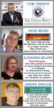 Speaking Out for freedom of speech, against political correctness and multiculturalism, for truth about Islam - Tom Trento, Heidi Mund, Alexandra Belaire, Andre Drouin